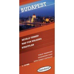 Budapest térkép belváros, sétáló térkép Térkép-Center 1:16 000
