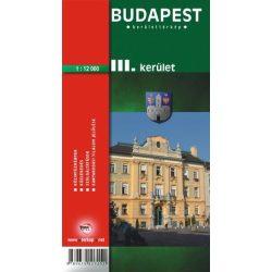 Budapest III. kerület térkép Topopress 1:12 000