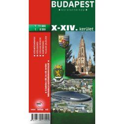 Budapest X.-XIV. kerület térkép Topopress 1:11 000  1:8500