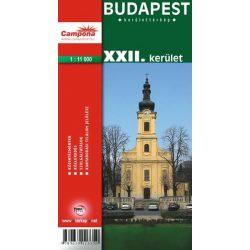 Budapest XXII. kerület térkép Topopress 1:11 500
