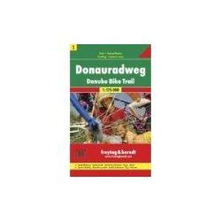 RK 1 Duna kerékpárút Donauradweg kerékpáros térkép Freytag & Berndt 1:125 000