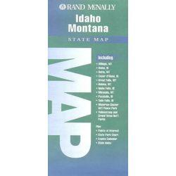 Idaho Montana térkép Rand M