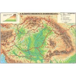 Magyar történeti emlékek a Kárpát-Medencében falitérkép, könyöklő Stiefel 65x45 cm