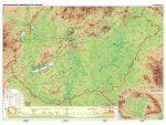 Magyarország domborzata falitérkép, könyöklő Stiefel 65x45 cm