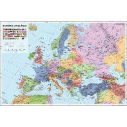 Európa politikai falitérkép faléces Stiefel 60x40 cm
