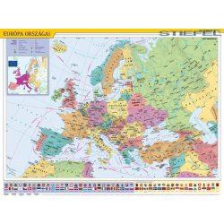 Európa országai faléces falitérkép Stiefel 60x40 cm