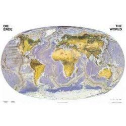 A Föld felszíne faléces falitérkép Stiefel 60x40 cm