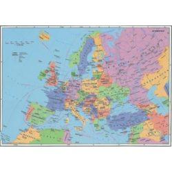 Európa országai falitérkép fémléces  Stiefel 100x70 cm