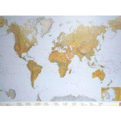 A Világ hegy-vízrajza faléces falitérkép Freytag 1:25 000 000 176x122,5