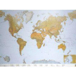 A Világ hegy-vízrajza faléces falitérkép Freytag 1:25 000 000 180x122