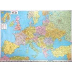 Európa politikai falitérkép fémléces  Freytag 1:3 500 000 126x89,5