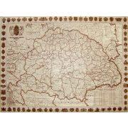 A Magyar Szent Korona Országai falitérkép 100x70 cm Topográf-Nyírkarta  1914 antik színű