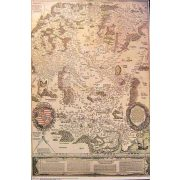 Lázár Deák 1. Magyarország térkép 1528.év falitérkép Topomap 66x88,5