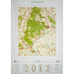Zempléni-hegység dombortérkép Magyar Honvédség 1:120 000 75x55 cm