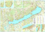 Balaton falitérkép Szarvas kiadó, hajtogatott térképből fóliázva 1:50 000,1:100 000 125x85