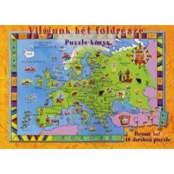 A Világunk 7 földrésze puzzle-könyv Manó könyvek 2011