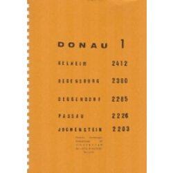 Donau 1 Duna hajózási térkép Pierre Verberght 1: 25 000