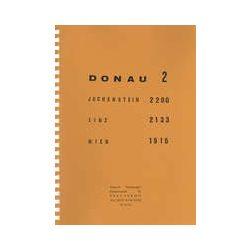 Donau 2 Duna hajózási térkép Pierre Verberght 1: 25 000