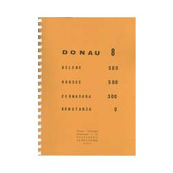Donau 8 Duna hajózási térkép Pierre Verberght 1: 25 000