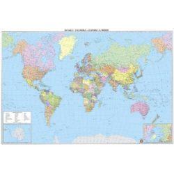 Világ országai falitérkép fémléces Freytag 1:35 000 000 122x86,5