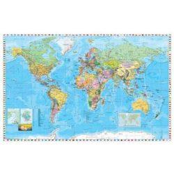 Világ országai falitérkép fémléces  Stiefel 60x40 cm