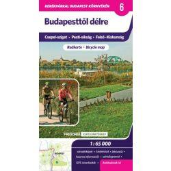 Budapesttől délre kerékpáros térkép Frigória  1:65 000