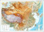 Kína falitérkép Gizi Map 1:6 500 000 125x85