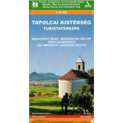 Tapolcai Kistérség turista térkép Térképskála 2012 1:45 000