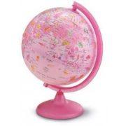 Földgömb gyerekeknek, állatvilág tematikás gyerek világító földgömb 25 cm  Pink Zoo rózsaszín gömb