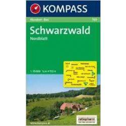 769. Schwarzwald Nordblatt turista térkép Kompass 1:75 000