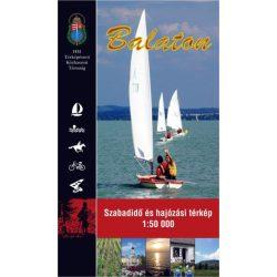 Balaton szabadidő és hajózási térkép HM 1:50 000
