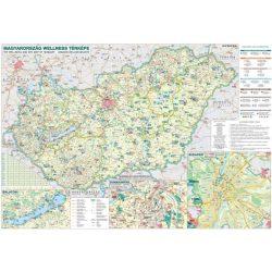 Magyarország wellness falitérkép Stiefel 2008  100 x 70 cm