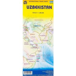 Üzbegisztán térkép ITM 1:1 580 000