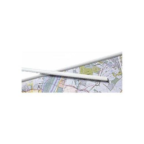 Térképsín, 1 pár fehér műanyag térképléc  100 cm