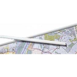 Térképsín, 1 pár fehér műanyag térképléc  140 cm