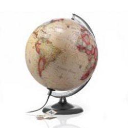 Világító földgömb antik színű 30 cm, Nova Rico világítós földgömb