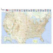 Fóliázott úthálózatos USA falitérkép Michelin 1:3 450 000 144x100