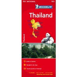 Thaiföld térkép Michelin 1:1 370 000