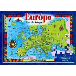 Európa puzzle-könyv Manó Könyvek Kiadó  2013