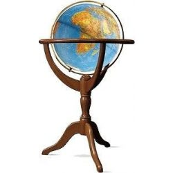 Világító földgömb 50 cm-es, duó, kétfunkciós, fa állványos Janine duó