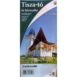 Tisza-tó térkép Nyír-Karta  2016 1:35 000