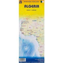 Algéria politikai térkép ITM 1:2 000 000