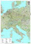 Közép-Európa falitérkép Freytag 1:2 000 000 100x80