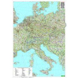 Közép-Európa keretezett falitérkép Freytag 1:2 000 000 100x80