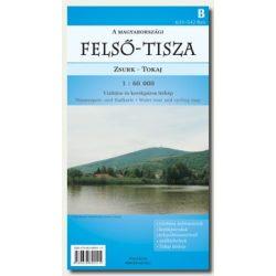 Zsurk-Tokaj A magyarországi Felső-Tisza térkép Kovács térképműhely 1:60 000 2010