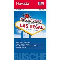 Nevada térkép Busche map 1:800 000