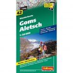 Aletsch turista térkép Hallwag 1:15 000