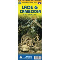 Laosz, Kambodzsa térkép ITM 1:1 200 000