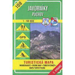 108. Javornik Nyugati rész turista térkép VKÚ 1:50 000