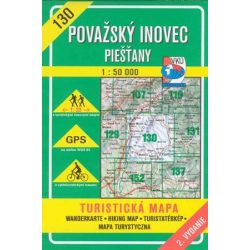 130. Pöstyén környéke turista térkép VKÚ 1:50 000